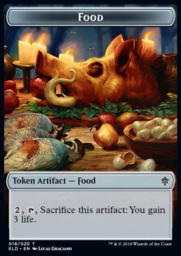 Faerie Token (U 1/1) // Food Token (Version 4)