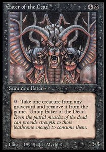 MTG 1x EATER OF THE DEAD The Dark *PLAYED*