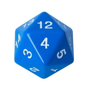 Blackfire Countdown D20 Die (Blue)