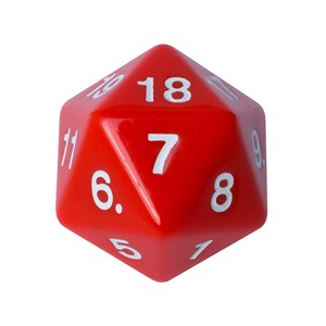 Blackfire Countdown D20 Die (Red)