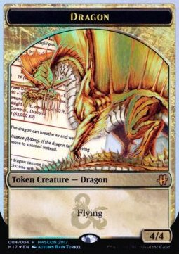 Dragon Token (Gold 4/4)
