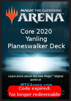 Arena Code Card (Planeswalker Deck) (Version 2)
