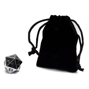 Blackfire Spindown D20 Die (Silver)