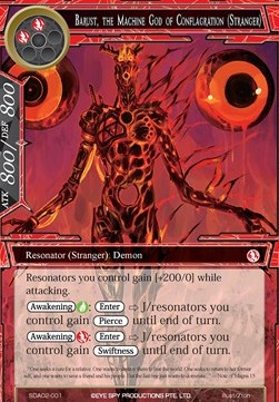 Barust, the Machine God of Conflagration (Stranger)