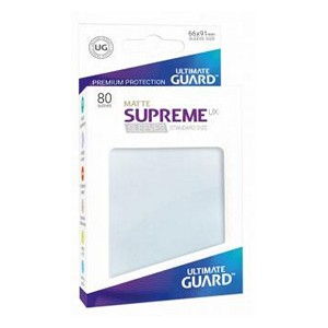 80 Ultimate Guard Supreme UX Matte Sleeves (Frosted)