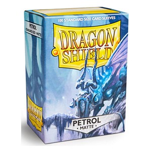 100 Dragon Shield Sleeves - Matte Petrol