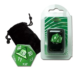 Dado D20 Blackfire Spindown (Verde)