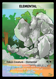 Elemental Token (Green and White */*)