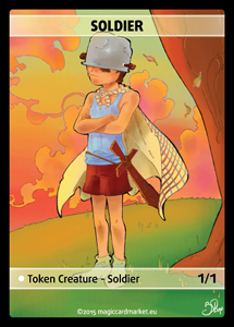 Soldier Token (White 1/1)