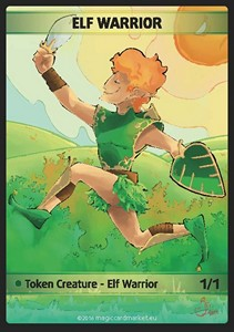 Elf Warrior Token (Green 1/1)