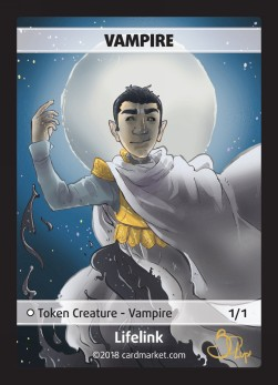 Vampire Token (White 1/1 Lifelink)
