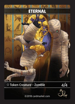 Eternal Zombie Token (Black 4/4)