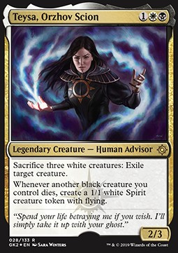 Teysa Orzhov Scion All Ver Mtg Cards Cardmarket Teysa, orzhov scion is a white and black creature spell with a converted mana cost of three from the guildpact expansion for magic: teysa orzhov scion all ver mtg