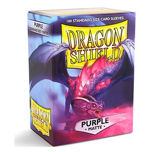 100 Dragon Shield Sleeves - Matte Purple