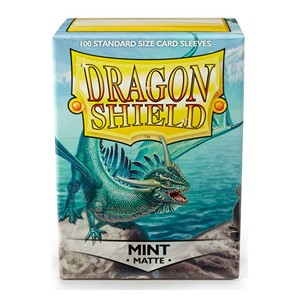 100 Dragon Shield Sleeves - Matte Mint