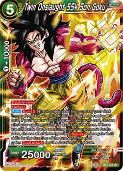 Twin Onslaught SS4 Son Goku (Version 1 - Super Rare)