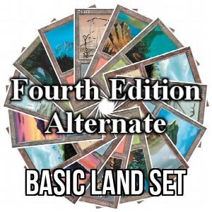 Fourth Edition: Alternate: Basic Land Set