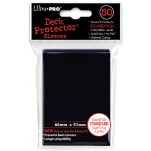 50 Buste Ultra Pro Deck Protector (Nero)