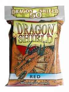 50 Dragon Shield Sleeves - Red