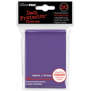 50 Ultra Pro Deck Protector Sleeves (Purple)