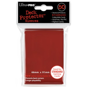 50 Buste Ultra Pro Deck Protector (Rosso)