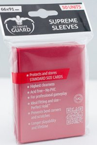 50 Ultimate Guard Supreme Sleeves (Red)