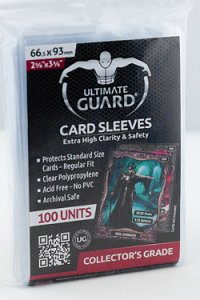 100 Protèges Cartes Ultimate Guard (Translucide)