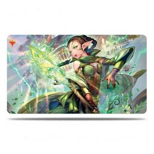 "War of the Spark: Japanese Alternate-Art Planeswalkers: Tapete ""Nissa, la que Sacude el Mundo"""