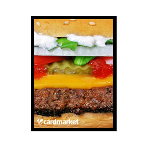 "50 Protèges Cartes Small Cardmarket ""Burger"""