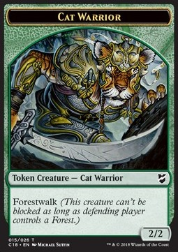 Cat Warrior Token (G 2/2) // Worm Token (BG 1/1)