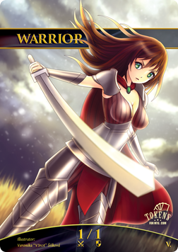 Warrior Token (White 1/1) (Version 1)