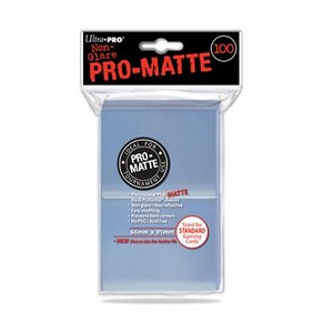 100 Ultra Pro Pro-Matte Sleeves (Translucent)