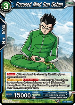 Focused Mind Son Gohan