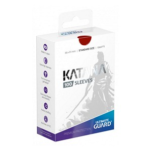 100 Protèges Cartes Ultimate Guard Katana (Rouge)