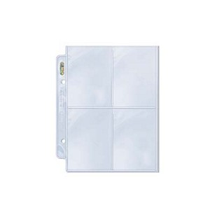 1x Ultra Pro Mini PLATINUM 4-Pocket Page