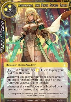 Misteltein, the Pious Sword Saint (Versione 1 - Super Rare)