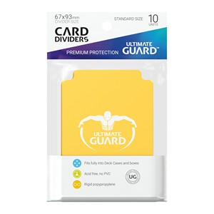 10 Ultimate Guard Dividers (Yellow)
