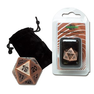Blackfire Spindown D20 Die (Antique Copper)