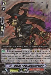 Stealth Fiend, Midnight Crow [G Format] (Version 2 - Double Rare)