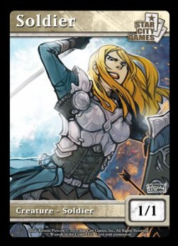 Soldier Token (White 1/1) (V.1)