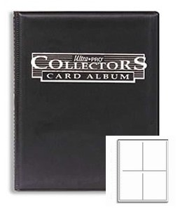 Ultra Pro Collectors Portfolio - 4-Pocket Black