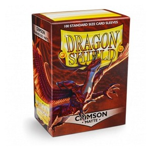 100 Dragon Shield Sleeves - Matte Crimson