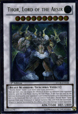 Thor, Lord of the Aesir (Version 2 - Ultimate Rare)