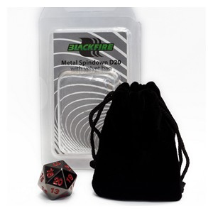 Blackfire Spindown D20 Die (Black)