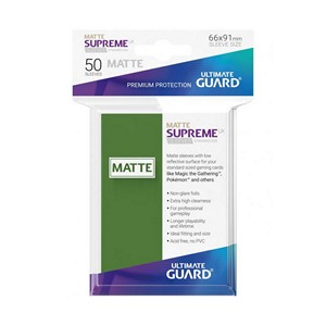 50 Ultimate Guard Supreme UX Matte Sleeves (Green)