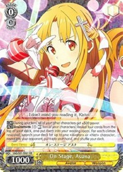 On Stage, Asuna (Version 1 - Double Rare)
