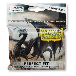 100 Dragon Shield Perfect Fit Sideloader Sleeves - Smoke
