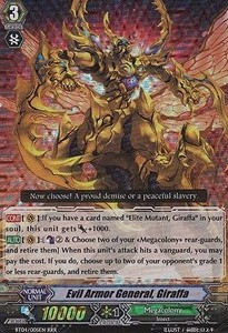 Evil Armor General, Giraffa [G Format] (Version 2 - Triple Rare)