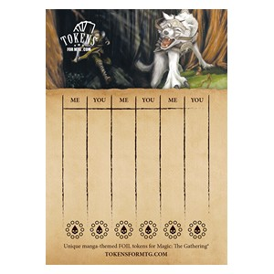 Tokens for MTG: Voja Wolf Lifepad (20 A6 Sheets)