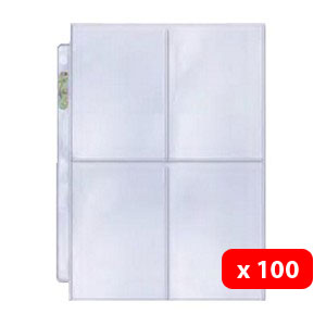 100 Ultra Pro Mini PLATINUM 4-Pocket Pages
